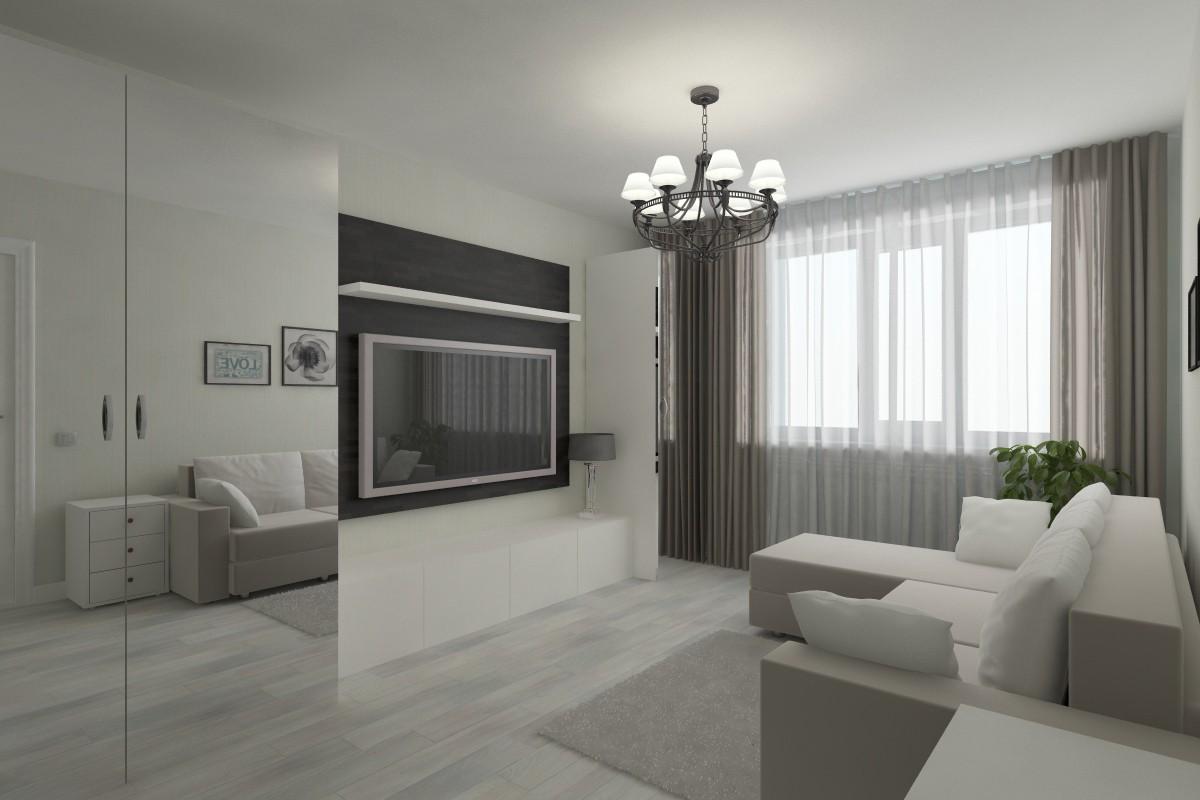visualización 3D del proyecto en el Habitación de huéspedes 3d max render vray Ируля
