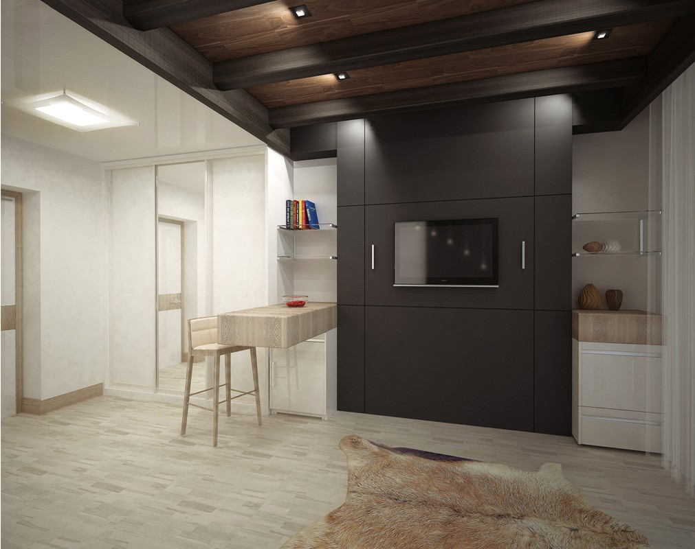 "3d visualization of the project in the The concept of a room in the ""Sibir"" hotel - Krasnoyarsk 3d max, render vray of Лэйка"