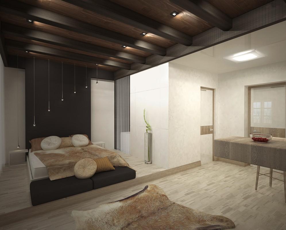 """imagen de El concepto de una habitación en el hotel """"Sibir"""" - Krasnoyarsk en 3d max vray"""
