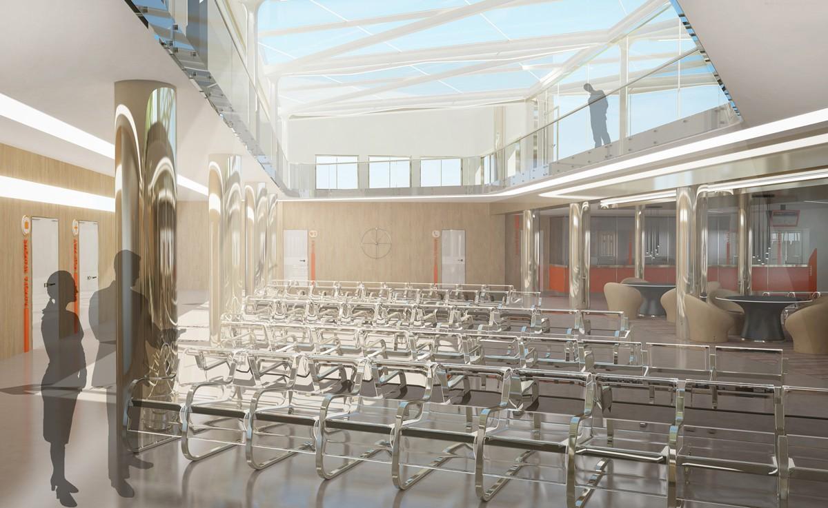 imagen de Interior de una sala de espera del autobús en 3d max vray