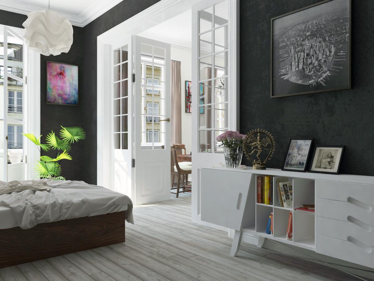 Open doors. in 3d max vray 3.0 image