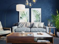 Visualización de un conjunto de muebles.