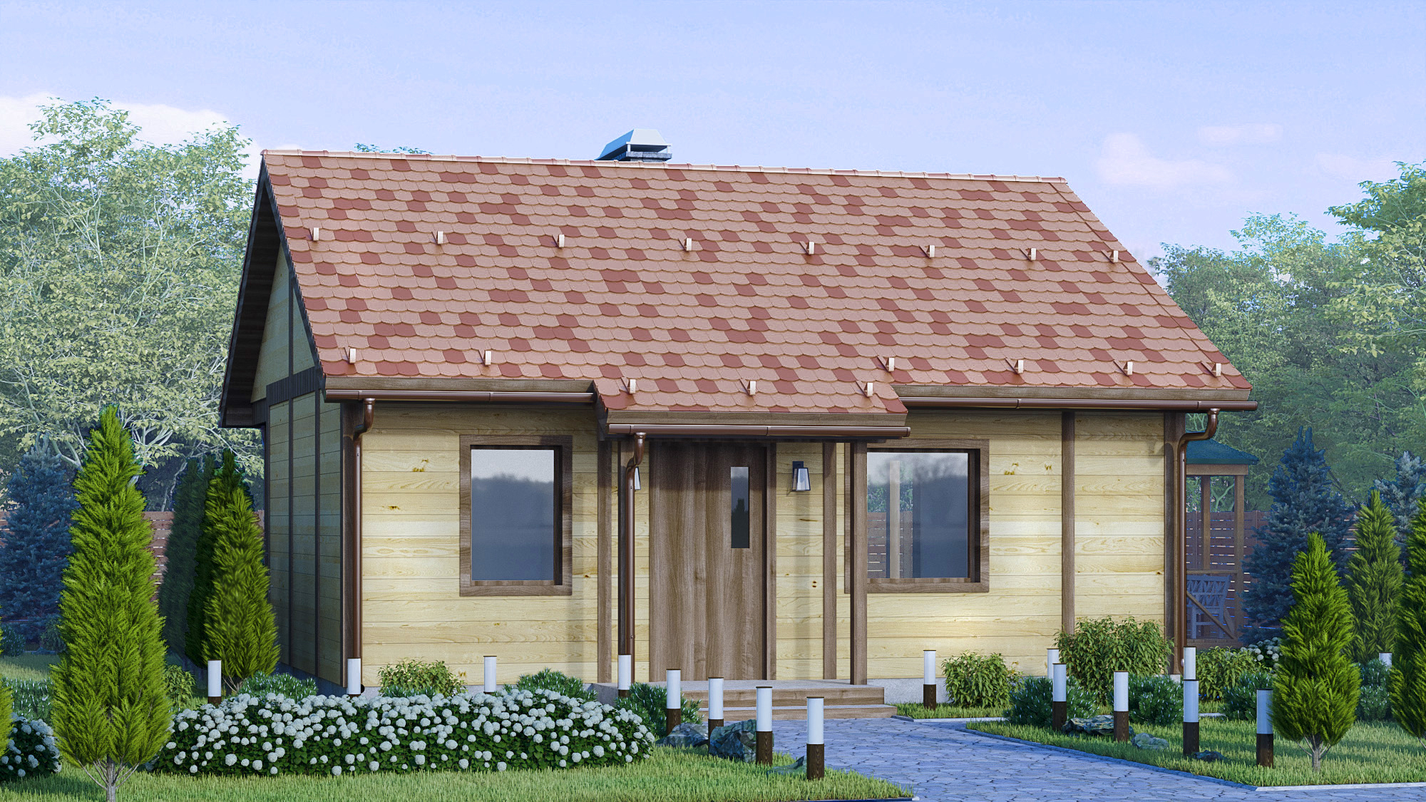 Visualization of a country house. in 3d max corona render image