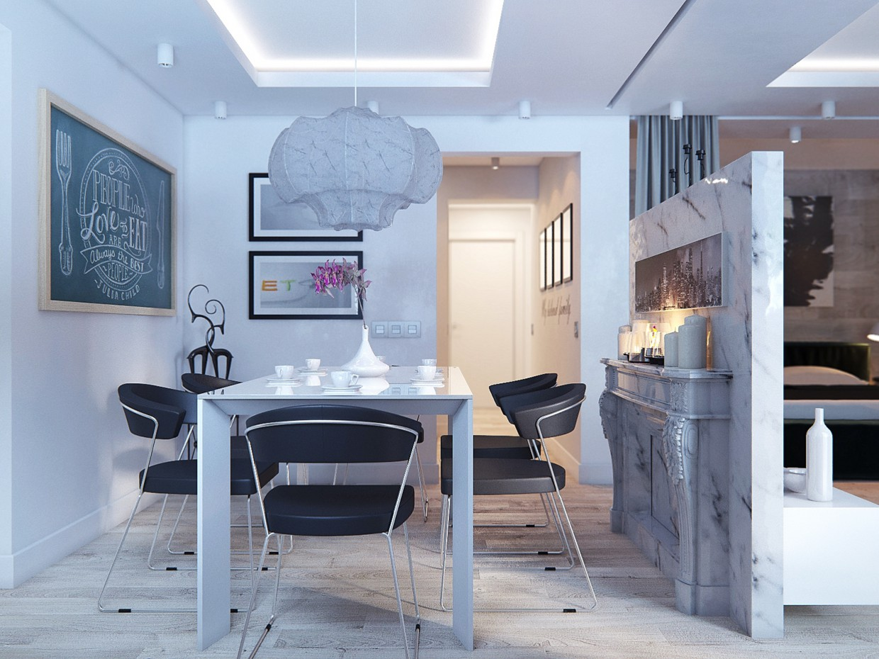 Interior for a young family in 3d max corona render image