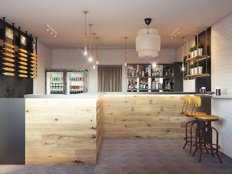 Стол заказов в кафе в 3d max corona render изображение