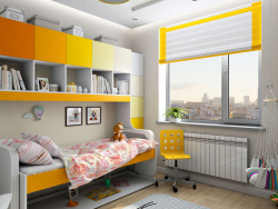 Children's interior design for a little girl in Chernigov