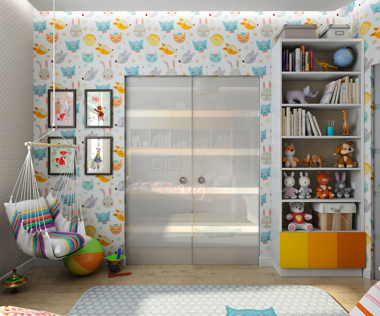 3d visualization of the project in the Children's interior design for a little girl in Chernigov 3d max, render vray 1.5 of OLEG