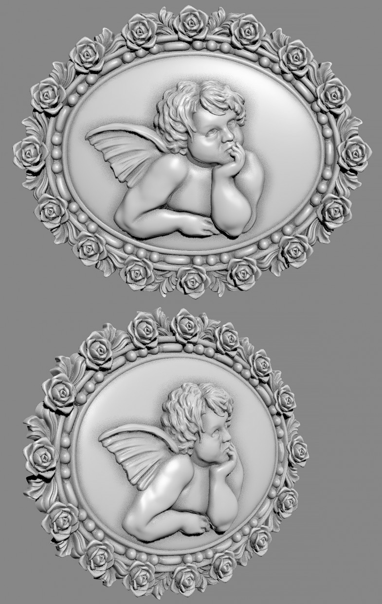 Bas-relief in ZBrush vray image