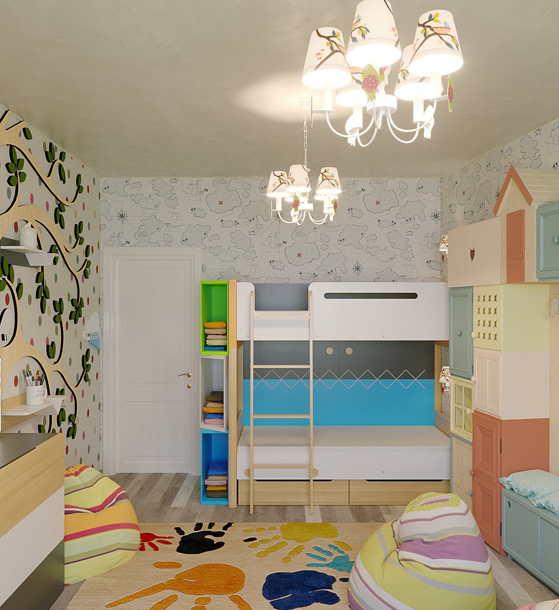 Childroom in 3d max corona render image