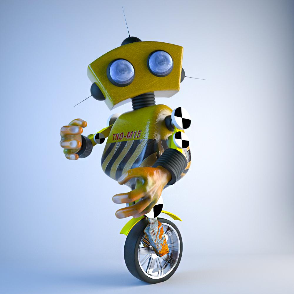 робот в 3d max vray 3.0 изображение
