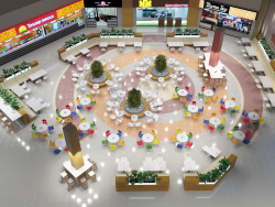 "Foodcourt in mall ""Kollaz"""