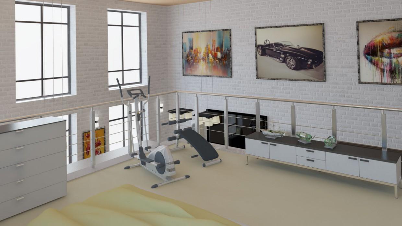 imagen de  Loft  en  3d max   vray