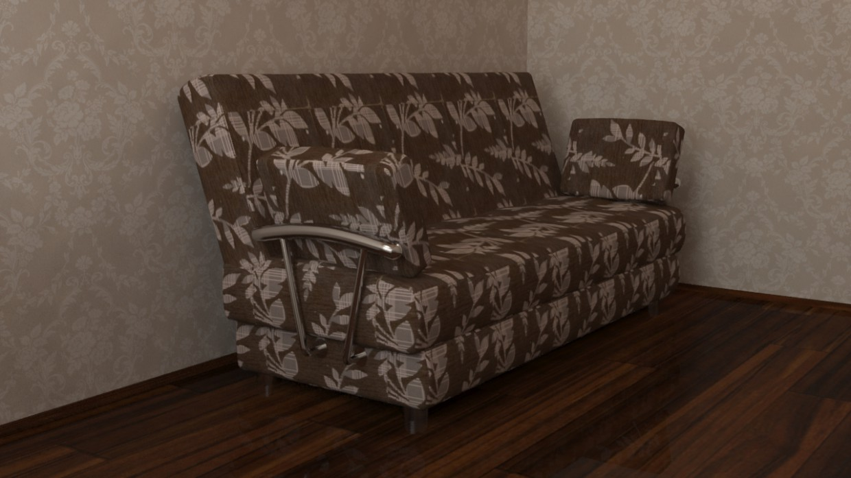 My first try to model the furniture in 3d max vray image