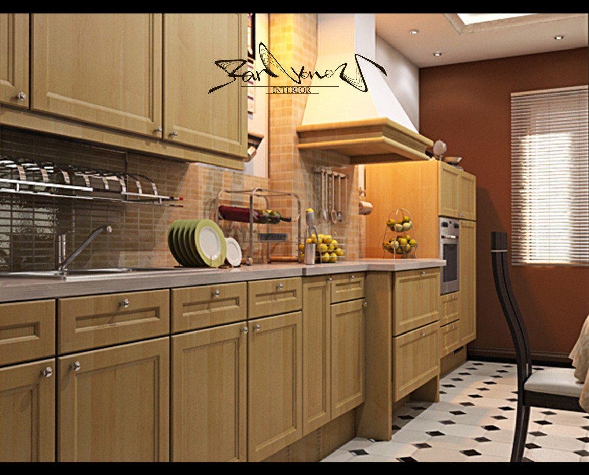 3d visualization of the project in the Draft of cooking 3d max, render vray of Parfyonov