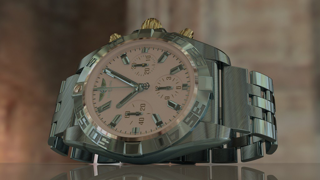 Breitling in 3d max mental ray image