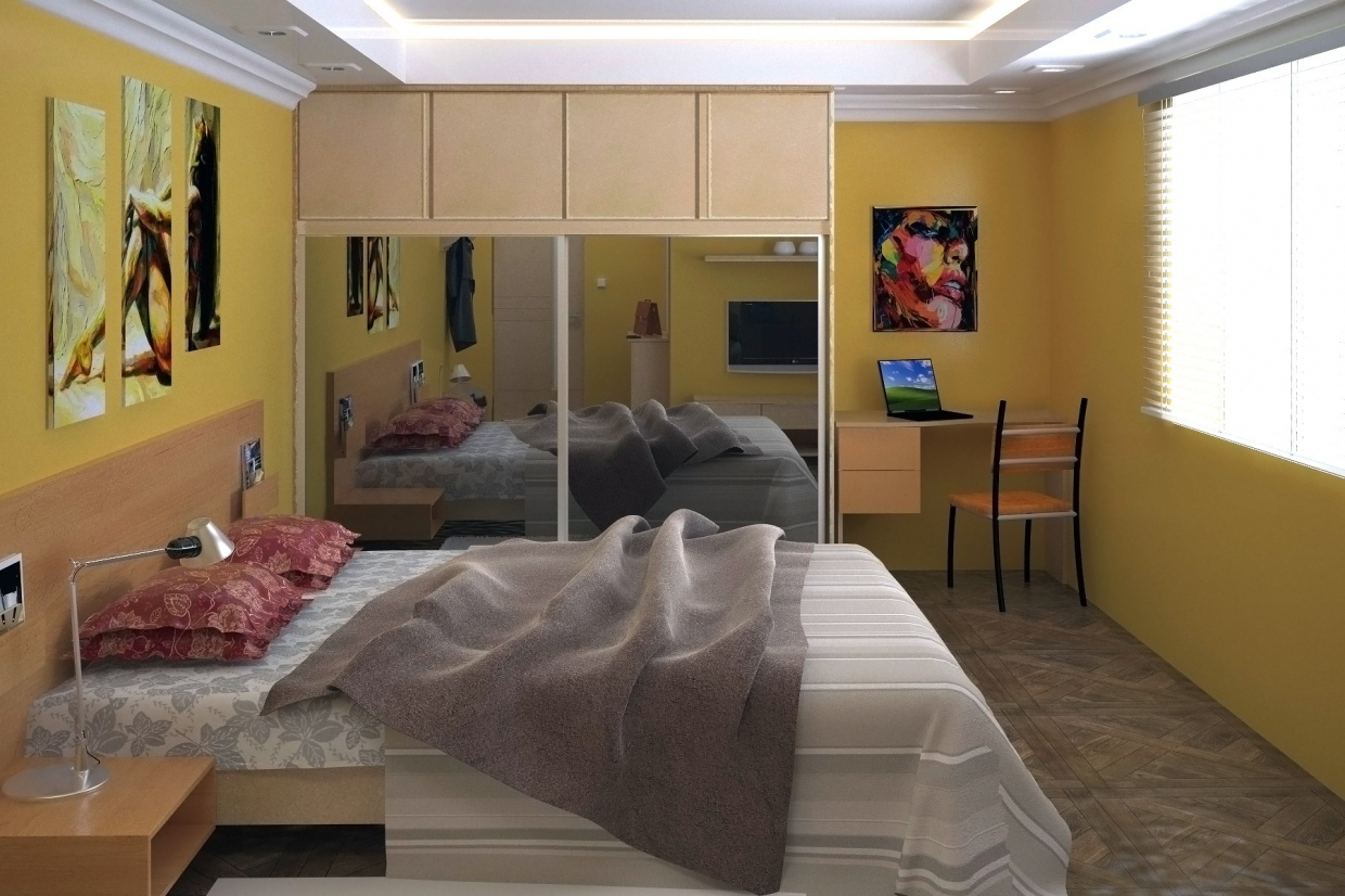Bedroom, guest in 3d max vray 3.0 image