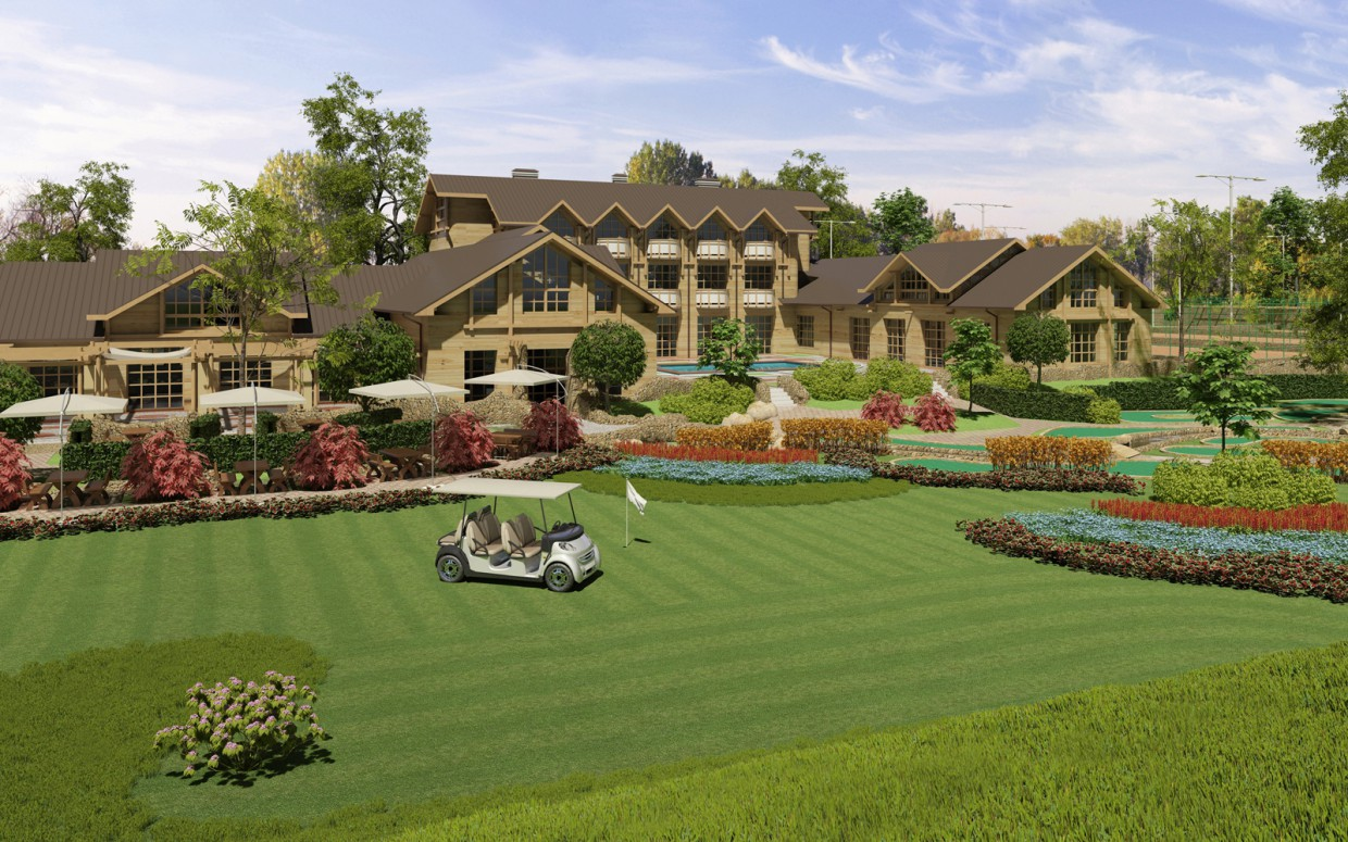 Golf-Club.  in  3d max   corona render  image