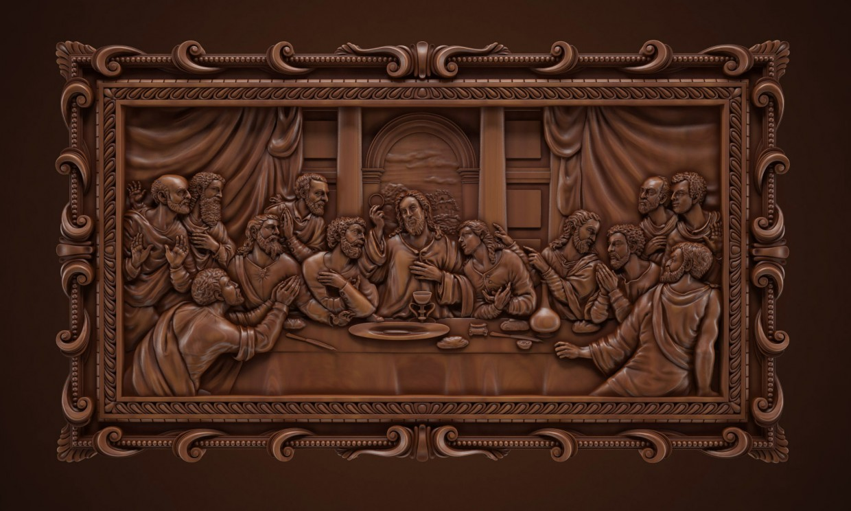 Bas-relief in 3d max vray image