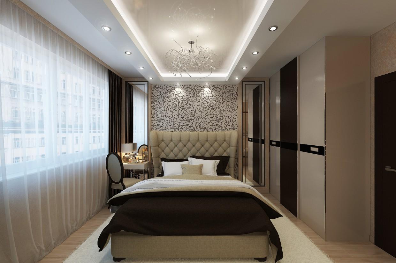 Спальня, арт-деко в 3d max vray изображение