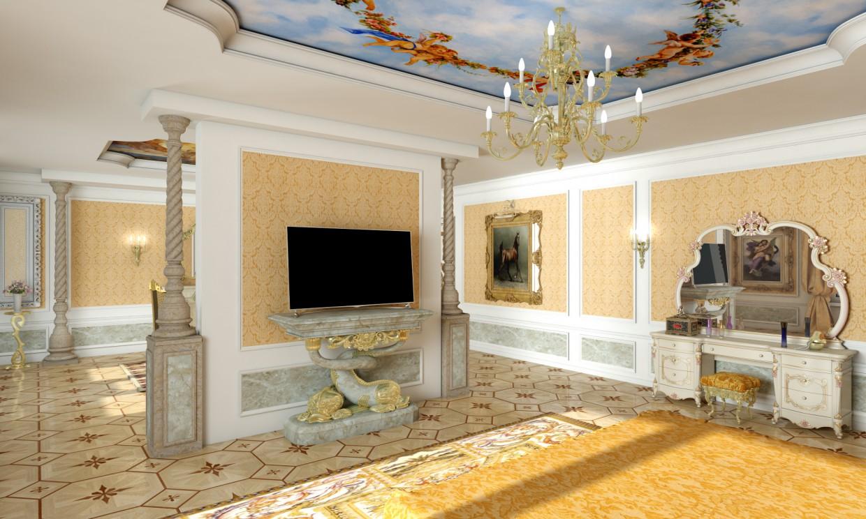 Спальня ренесанс в 3d max vray зображення