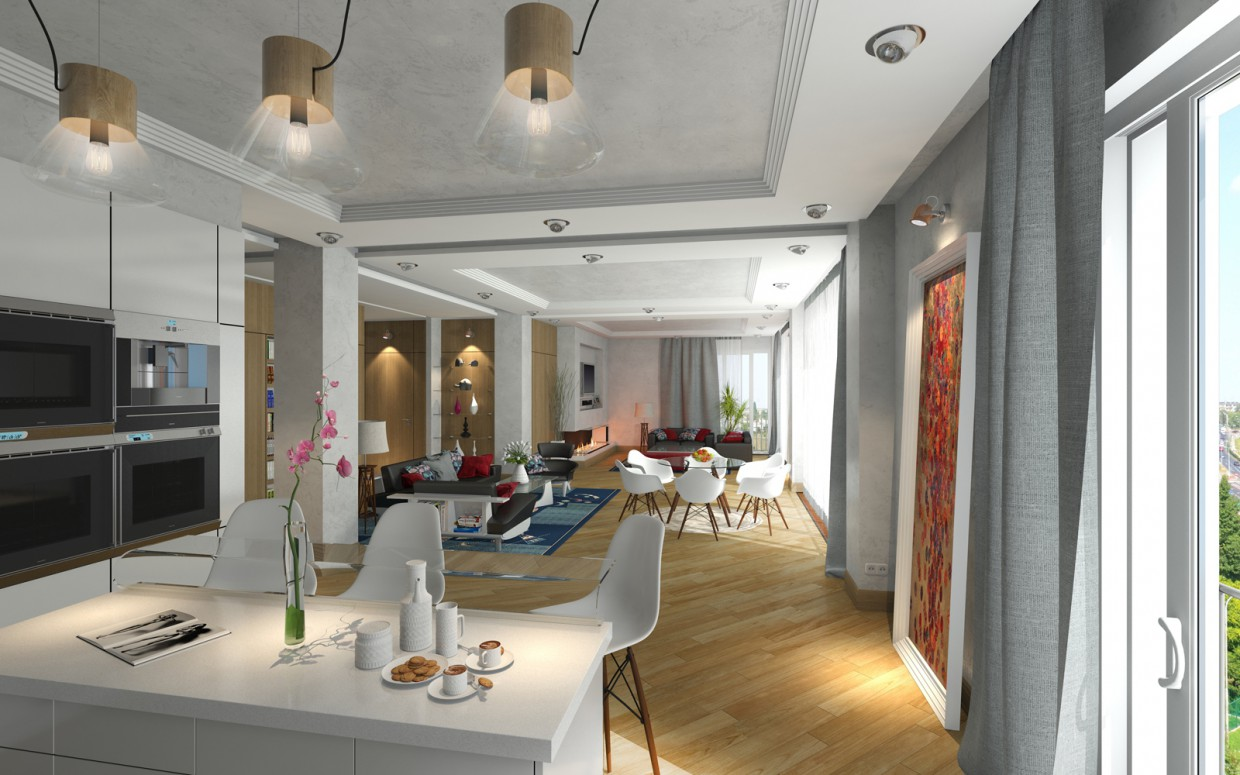 Penthouse. in 3d max corona render image