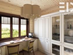Visualizzazione della cucina e sala da pranzo