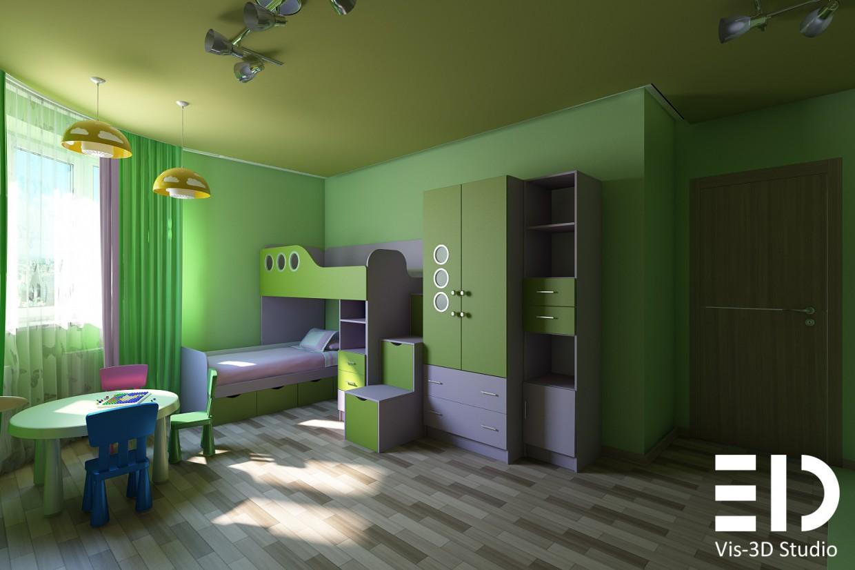Визуализация детской в 3d max vray изображение