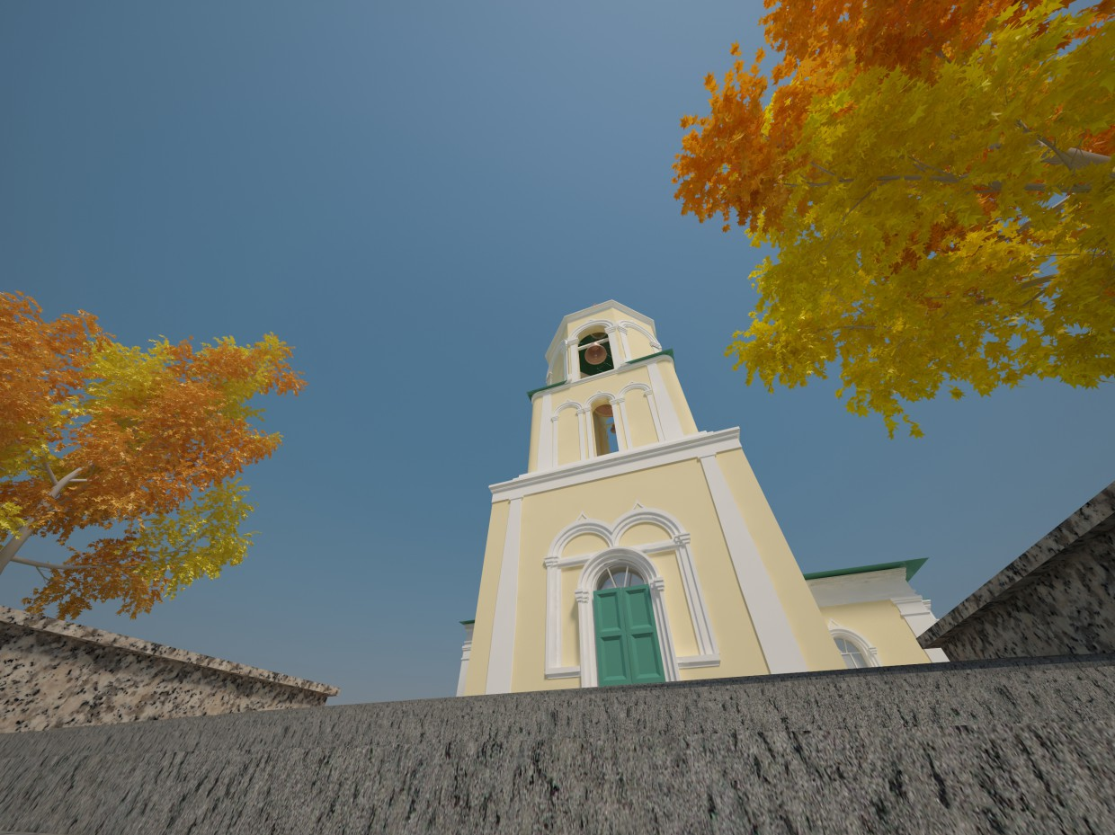 Church Of The Life-Giving Trinity in 3d max vray image