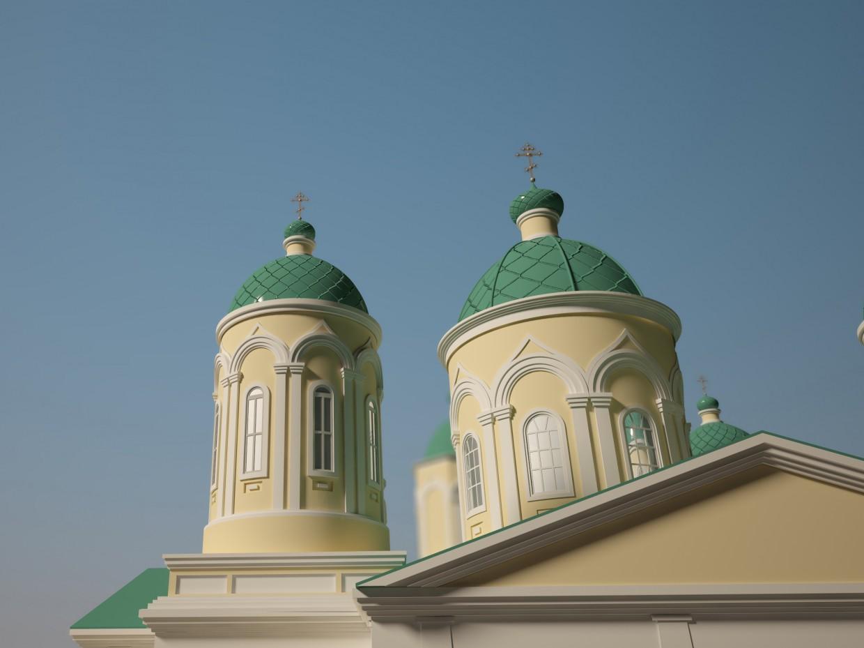 imagen de Iglesia de la Trinidad vivificante en 3d max vray