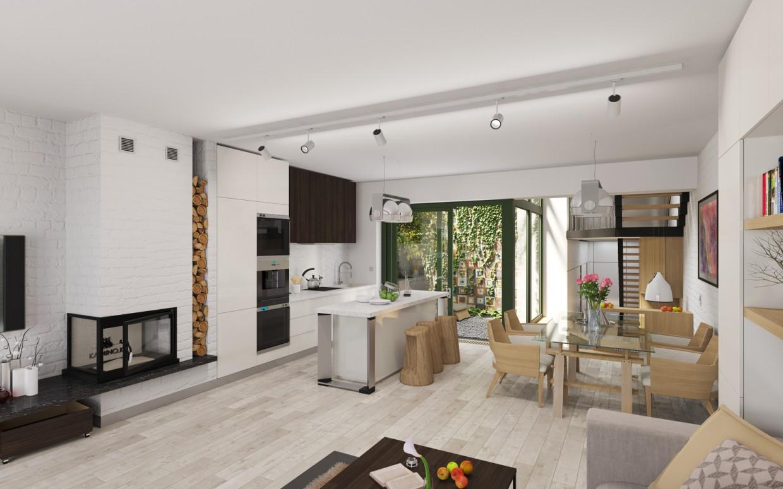 imagen de Casas adosadas. Interior. en 3d max corona render
