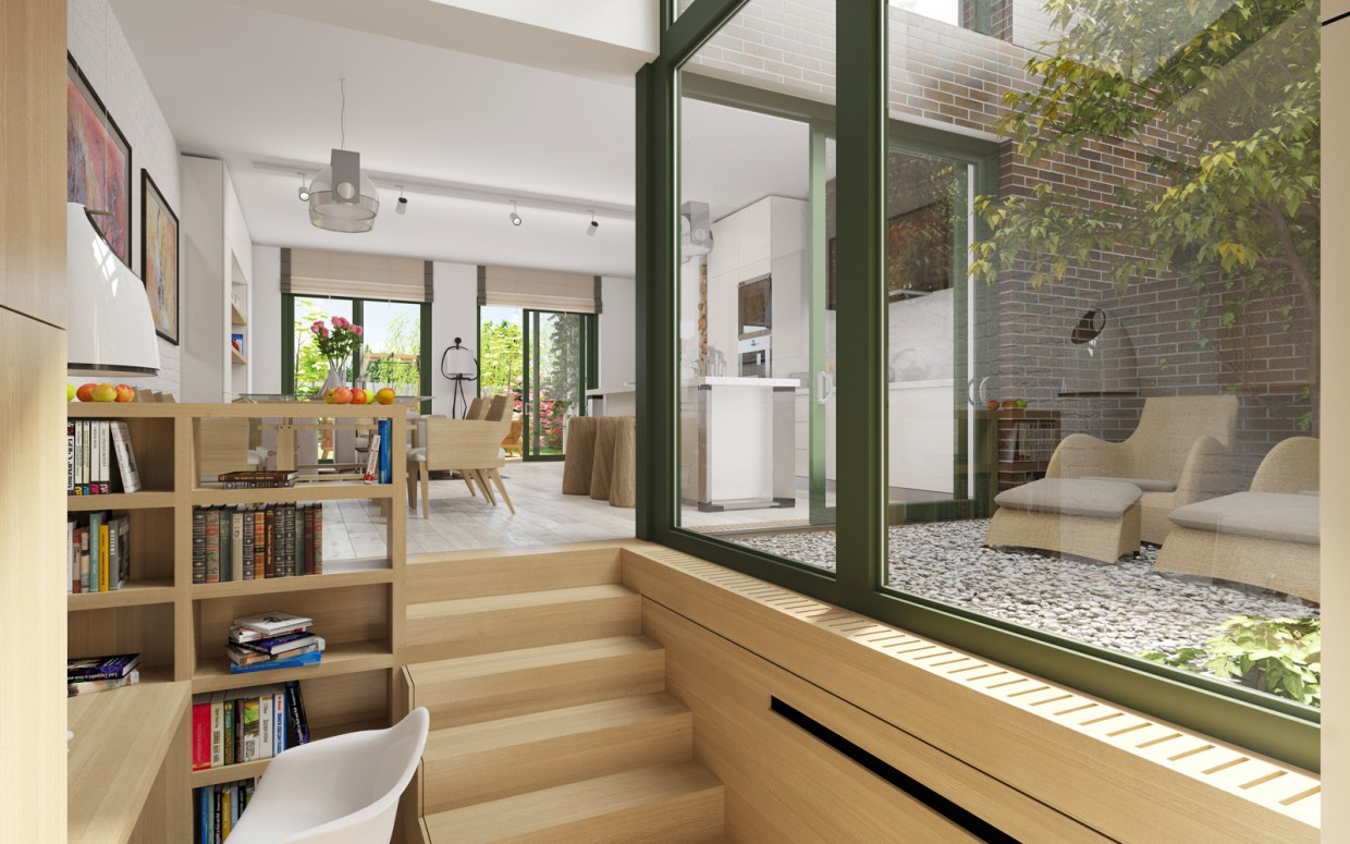 Townhouses. Interior.  in  3d max   corona render  image