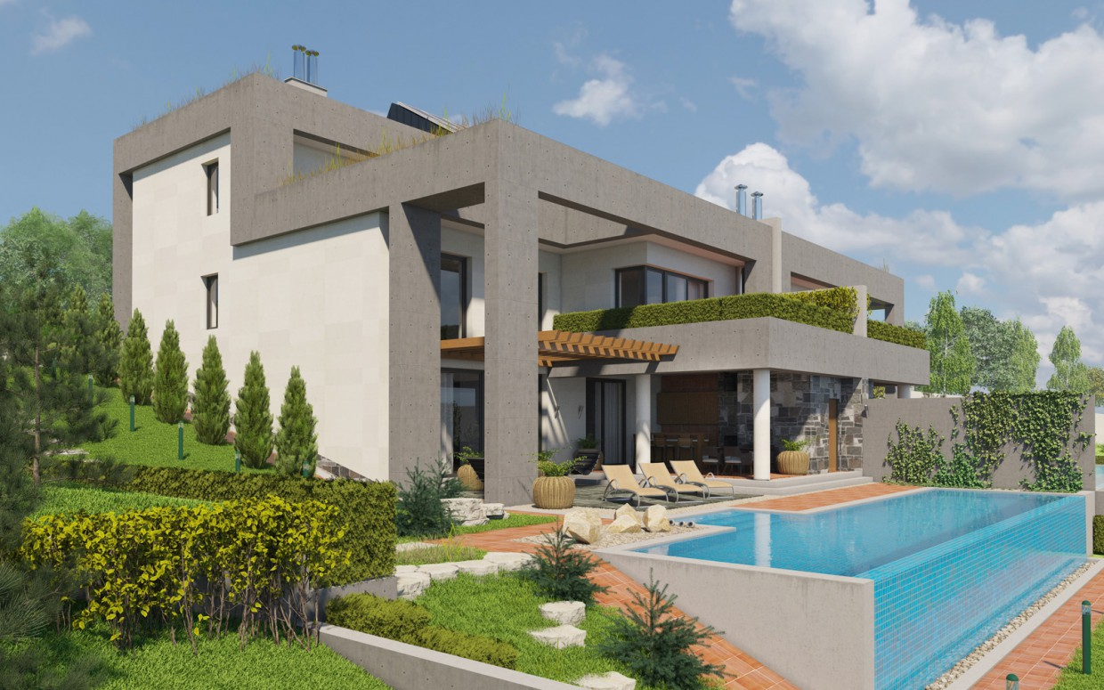 Duplex on the terrace. in 3d max corona render image