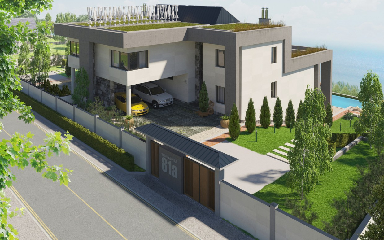 imagen de Duplex en la terraza. en 3d max corona render