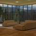 Interior in the mountains
