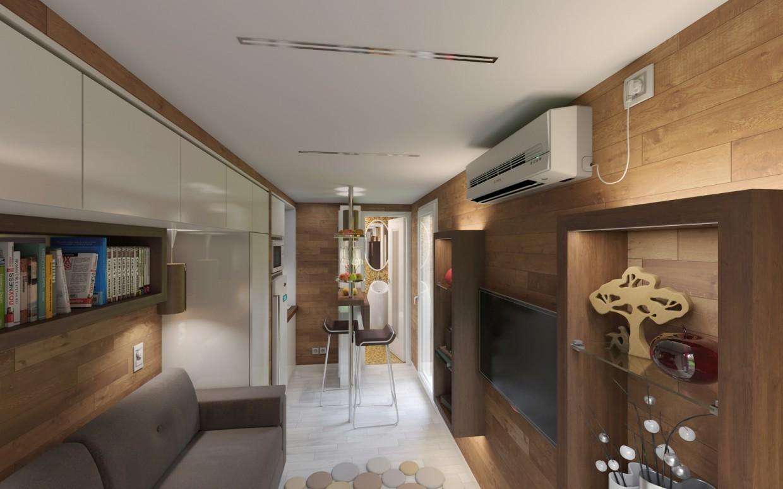Дом-контейнер. в 3d max corona render изображение