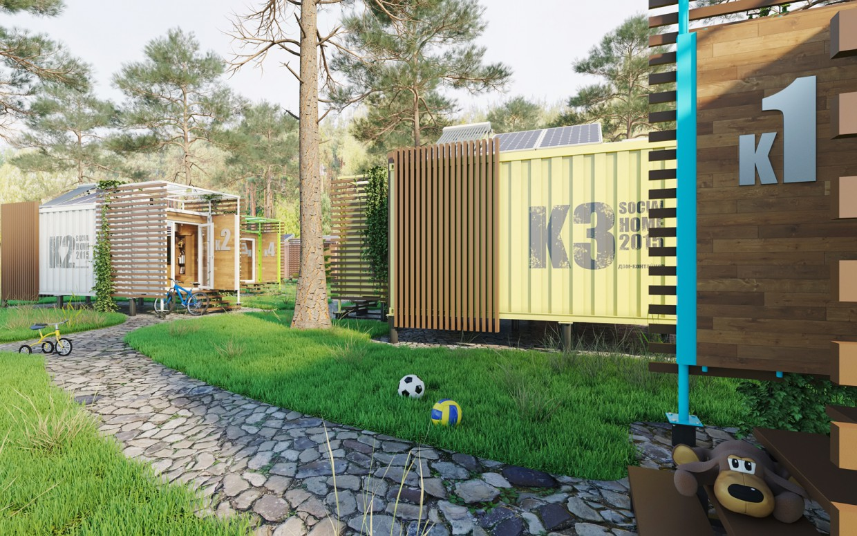 Container House. in 3d max corona render image