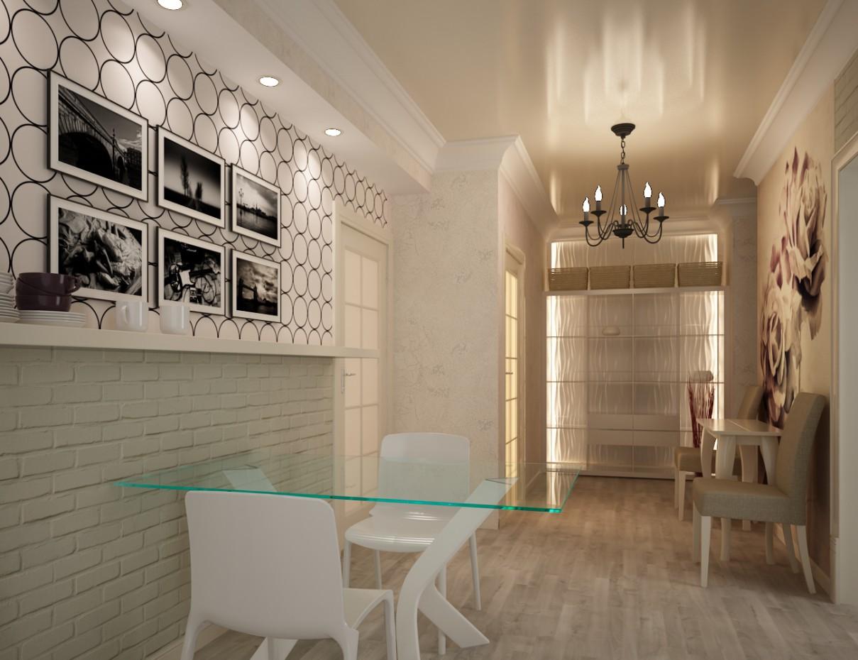 imagen de Espacio entre corredor y cocina en 3d max vray