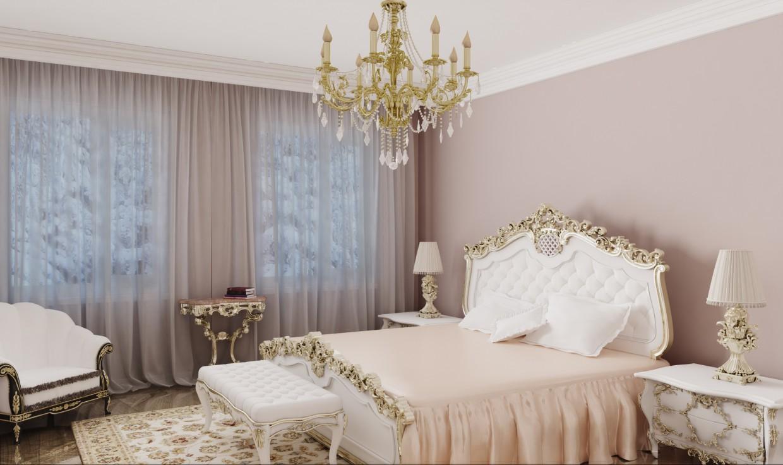 Спальня классика в 3d max vray изображение