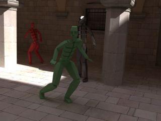 Визуализация анимации с движущимися объектами в V-Ray.