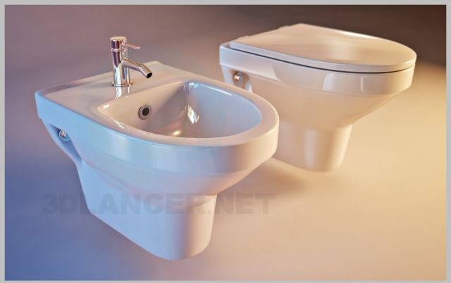 3d model The toilet and bidet Cersanit Olimpia - preview