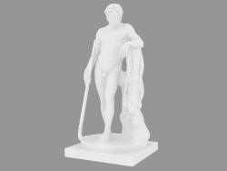 Sculpture en marbre Aristee Dieu des jardins