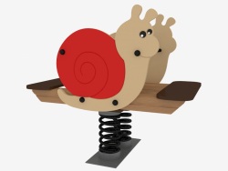 Rocking chair of a children's playground Snail (6133)
