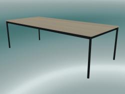 Tavolo rettangolare Base 250x110 cm (Rovere, Nero)