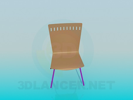 3d modeling Chair with solid wooden backrest and seat model free download