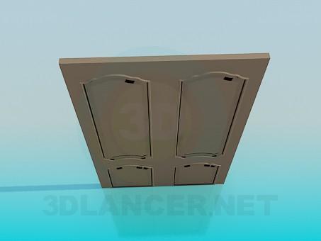 3d модель Широкая дверь – превью