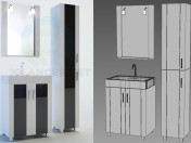 Edelform bathroom furniture, Glass series, Neo line