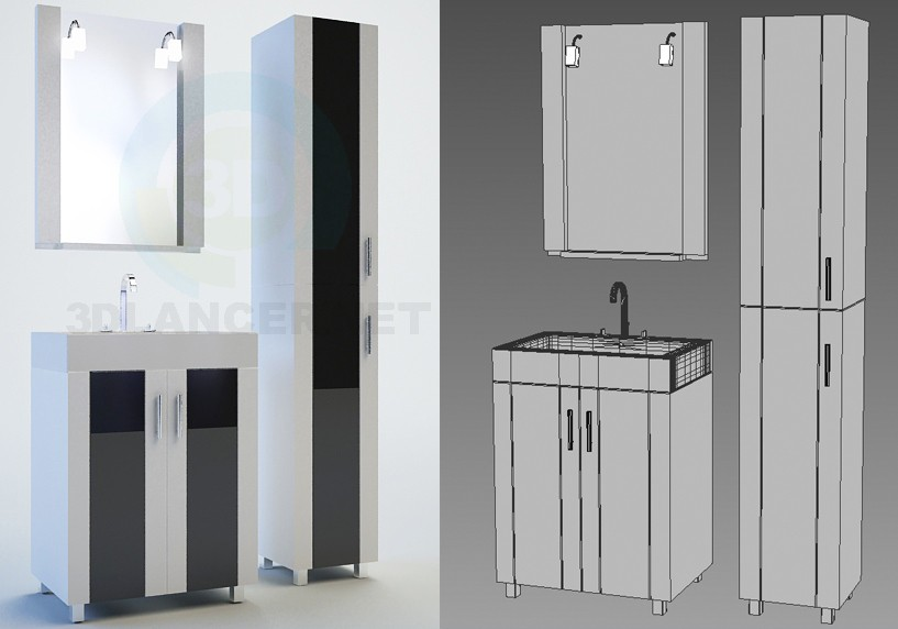 3d modeling Edelform bathroom furniture, Glass series, Neo line model free download