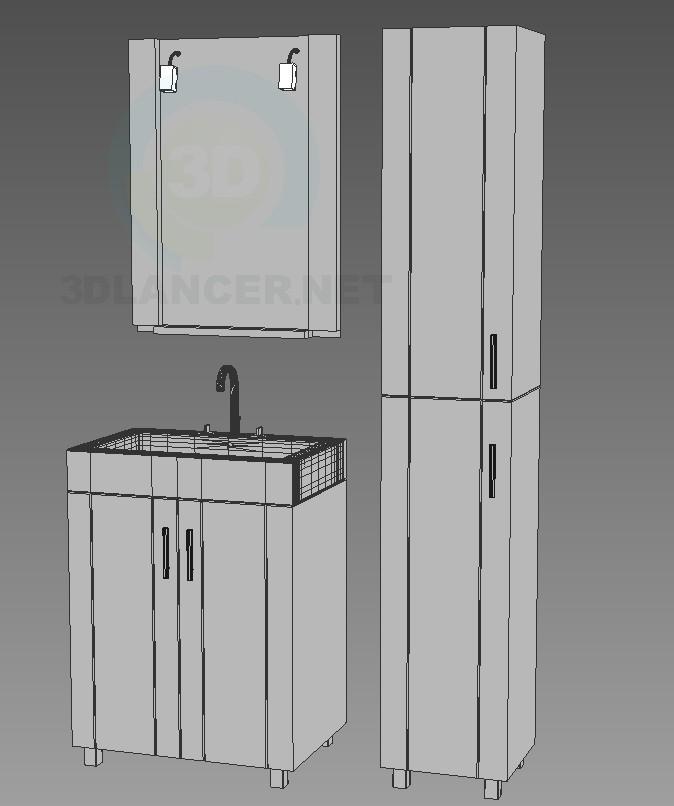 modelo 3D Edelform muebles de baño, serie de cristal, línea Neo - escuchar