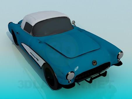 3d моделирование Corvette 1957 модель скачать бесплатно