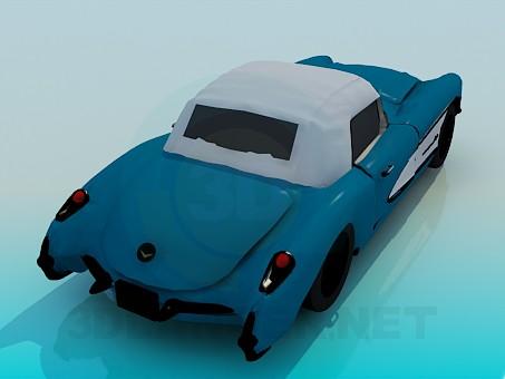 modelo 3D Corvette 1957 - escuchar